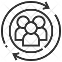 Connection Network Team Icon