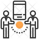 Connection People Smartphone Icon