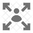 Connection Molecular Shape Icon