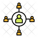 Connection User Connection Centralization Icon