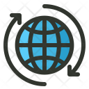 Connection Globe Rotate Icon