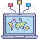 Connection Cyberspace Internet Icon
