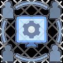 Connection Digital Internet Icon