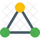 Connection Network Triangle Icon
