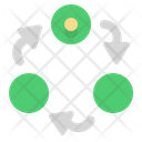 Connection Networking Multi Channel Icon