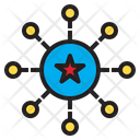 Star Connection Business Icon
