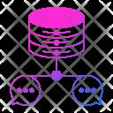 Chat Database Data Icon