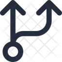 Connector Split Up Icon