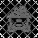 Coal Cart Icon