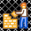 Construct Bricklayer Icon