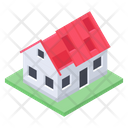 Constructed House Real Estate Home Icon