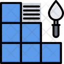 Laying Tiles Putty Icon
