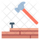 Wood Hammer Hammer Repairing Icon