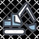 Construction Excavator Heavy Icon