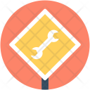 Construction Sign Wrench Icon