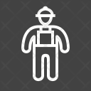 Construction Worker Profession Icon