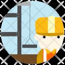 Construction Worker Avatar Icon