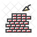 Mason Construction Bricks Icon