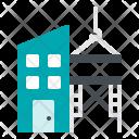 Building Crane Scaffolding Icon