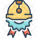Construction Badge Reconstruction Innovation Icon