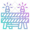 Barrier Caution Construction Icon