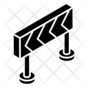 Construction Barrier Road Barricade Obstacle Icon