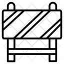 Block Barrier Construction Icon