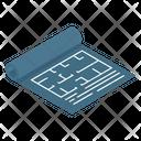 Construction Blueprint Paper Icon