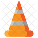 Road Block Cone Construction Icon