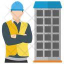 Construction Contractor Building Engineer Building Planning Icon