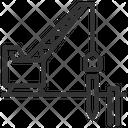 Construction Crane Deep Foundation Micropile Icon