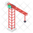 Construction Crane Industrial Crane Excavator Icon