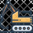 Excavator Construction Bulldozer Icon