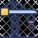 Construction Crane Harbour Machine Icon