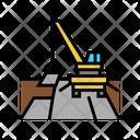 Crane Road Construction Icon