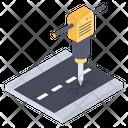 Construction Jackhammer Icon