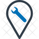 Construction Location Wrench With Map Pin Map Icon