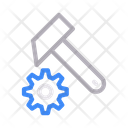Hammer Gear Cogwheel Icon