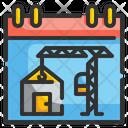 Construction Plan Blueprint Drafting Icon