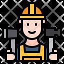 Man Construction Service Icon