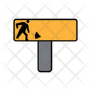 Construction Sign Board Icon