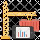 Tower Crane Construction Site Crane Machine Icon