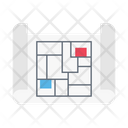 Blueprint Map Construction Icon