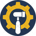 Construction Gear Hammer Gear Hammer Tool Icon