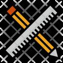 Ruler Pencil Tool Icon
