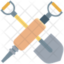 Shovel And Gimlet Shovel Construction Tool Icon
