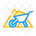 Construction Trolley Sand Grid Icon