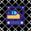 Buldozer Demolish Construction Icon