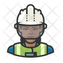 Construction Worker Black Woman Avatar User Icon