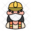 Construction Worker Avatar Woman Icon